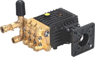 China Gasoline engine driven washer pump PC-1024 brass high pressure triplex plunger pump 250Bar 18LPM supplier