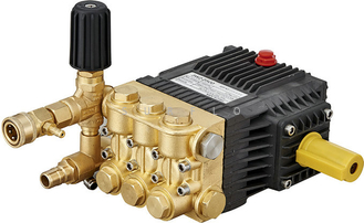 China Electric washer pump PC-1021 brass high pressure triplex plunger pump 250Bar 11LPM supplier