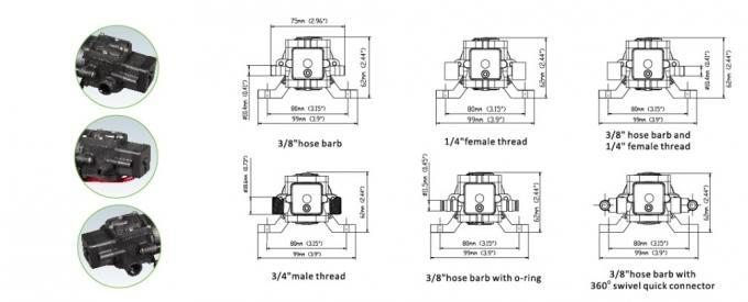 electric high pressure dc spray pump 12v 24v optional